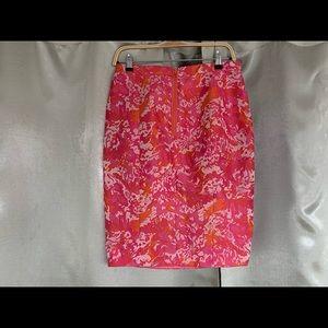Pink Tartan Bitmap Sangria Pencil Skirt